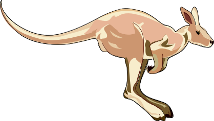 Free kangaroos clipart free clipart images graphics animated