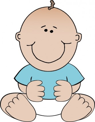 Funny baby clip art clipart