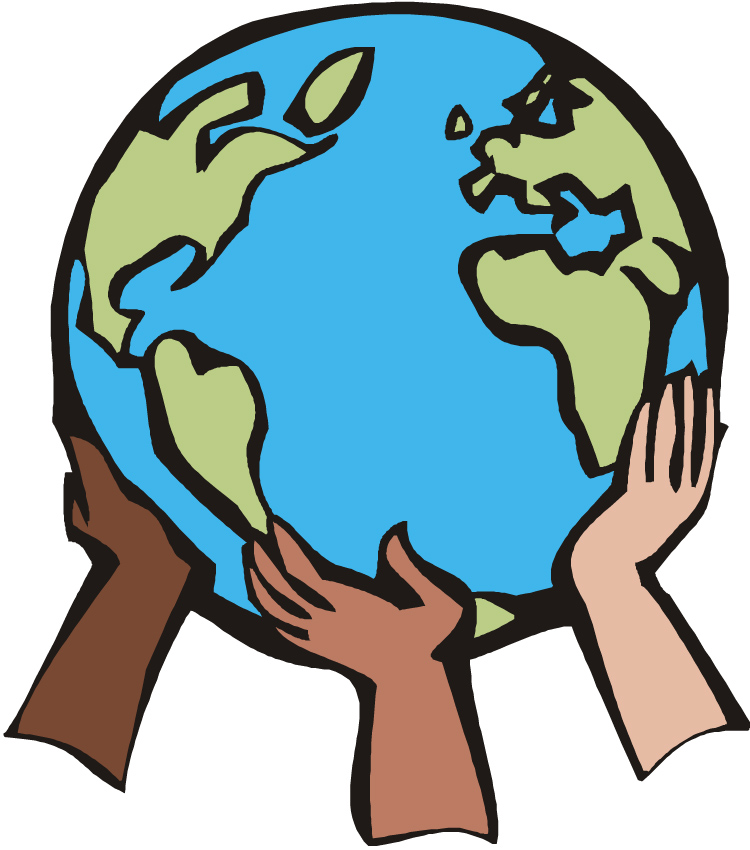 Hands holding world clipart clipart