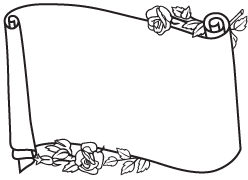 Headstone clip art examples of scrolls memorial clip art