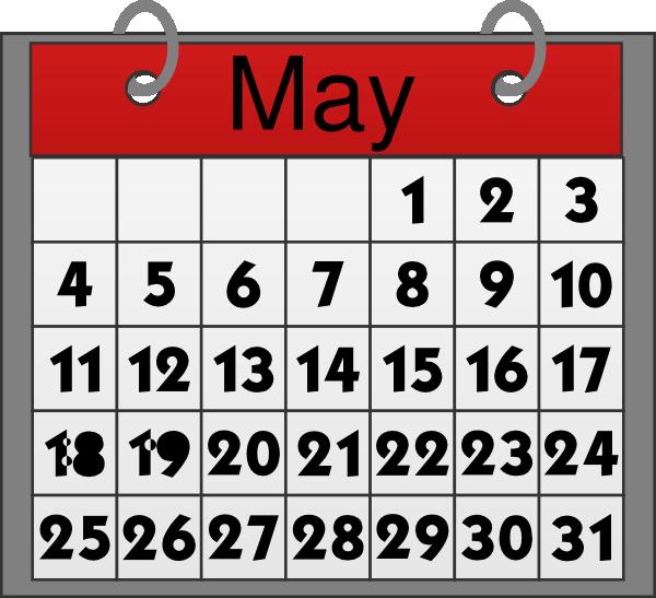 May calendar clip art calendar clipart and graphics