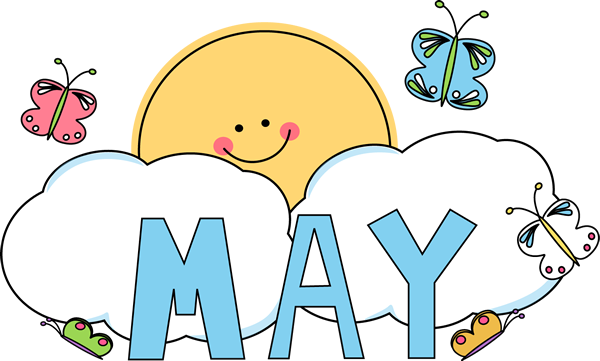 Month of may butterflies clip art month of may butterflies image