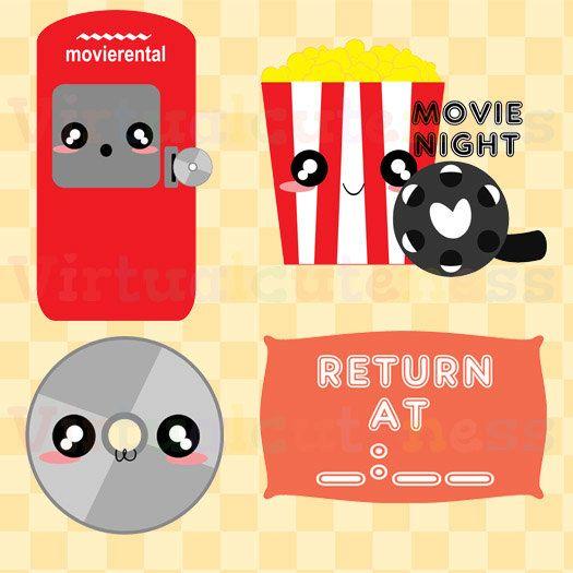 Movie rental clipart movie night clip art popcorn clipart