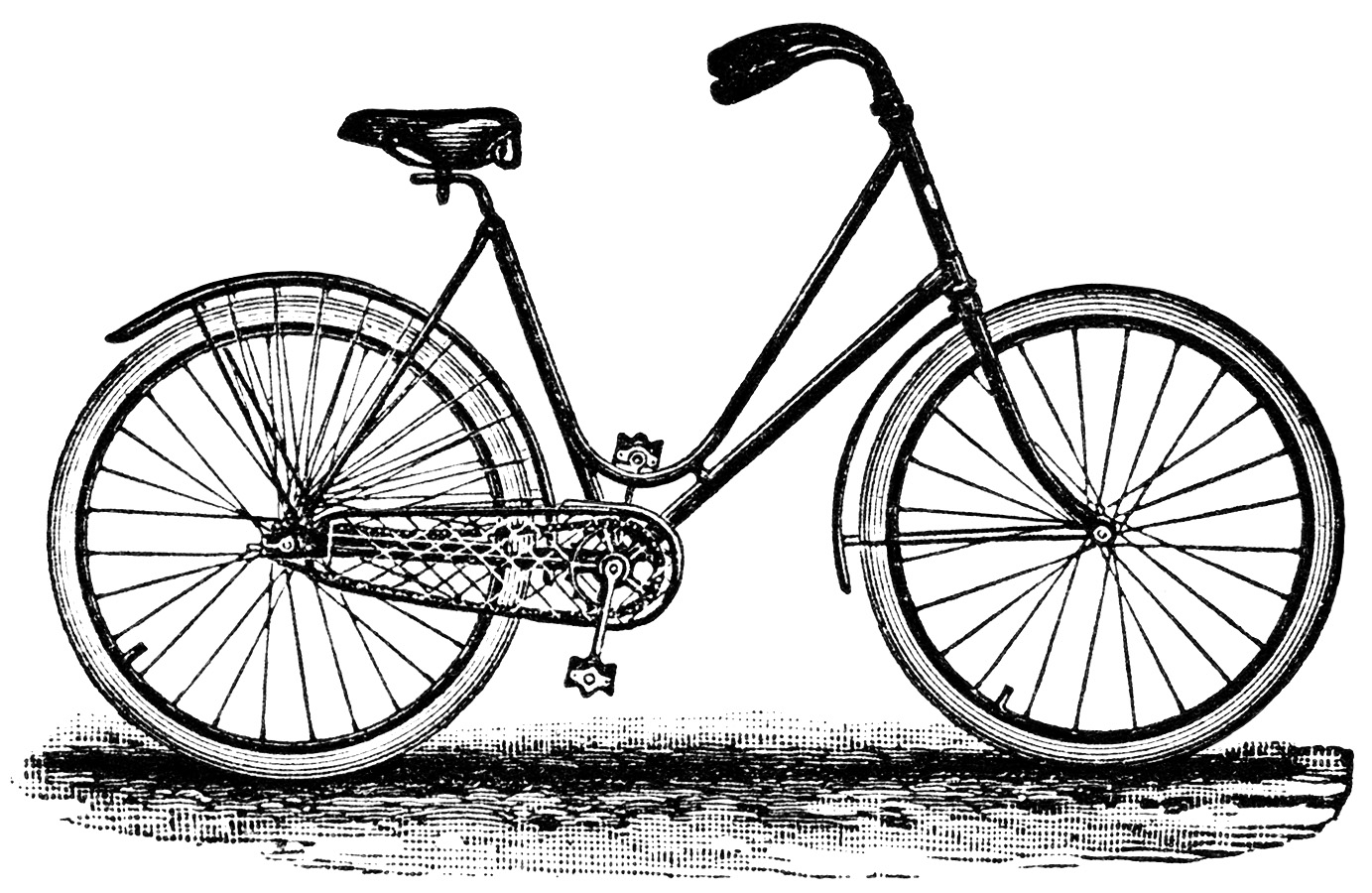 Old bicycle clipart
