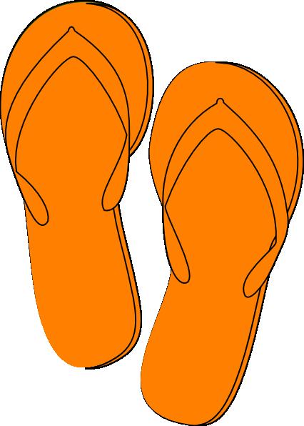 Orange flip flop clipart