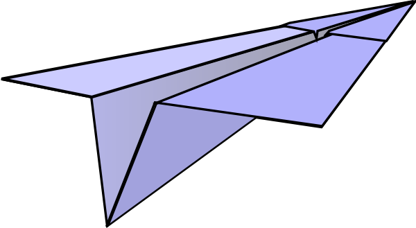 Paper airplane clip art at vector clip art online