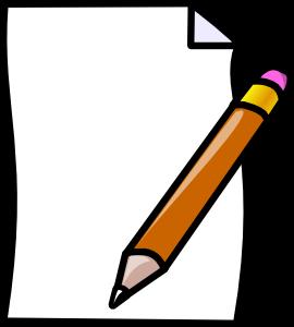 Paper pencil clip art at vector clip art online
