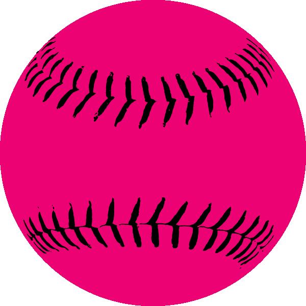 Pink softball clip art vector clip art online royalty free