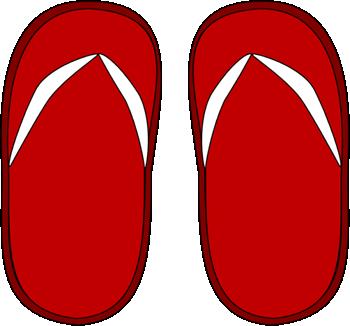 Red flip flops clip art red flip flops image