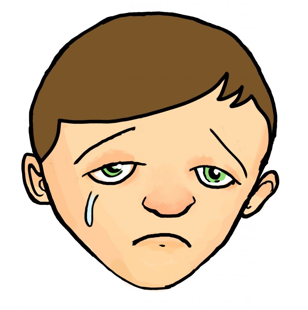 Sad face clip art 9