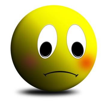 Sad face free clipart