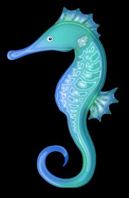 Seahorse transparent cliparts page