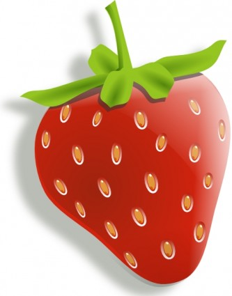 Strawberry clip art free vector in open office drawing svg svg 2