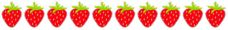 Strawberry free scrapbooking fruit borders strawberries cherries pears