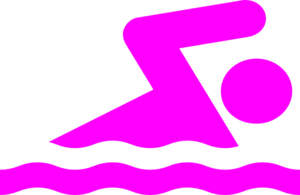 Swimming pink swimmer clip art at vector clip art online