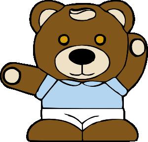 Teddy bear clip art at vector clip art online royalty