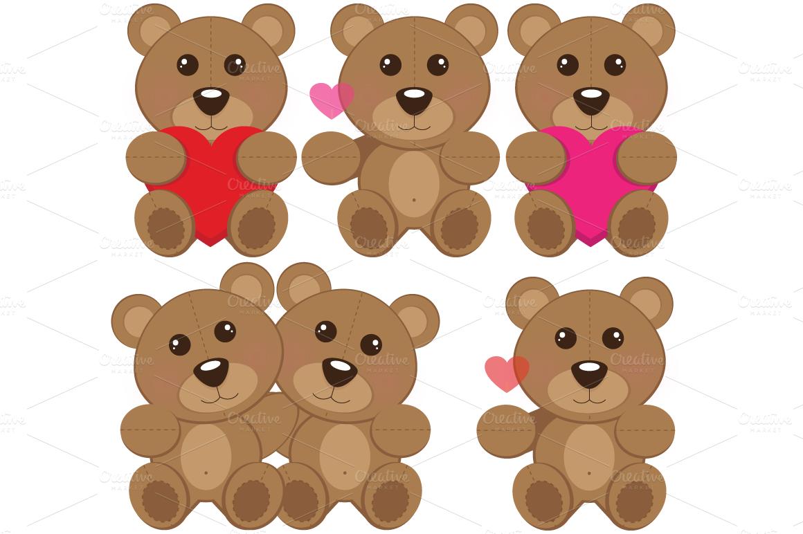 Teddy bear clip art products creative market