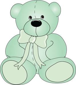 Teddy bear clipart image cute green teddy bear