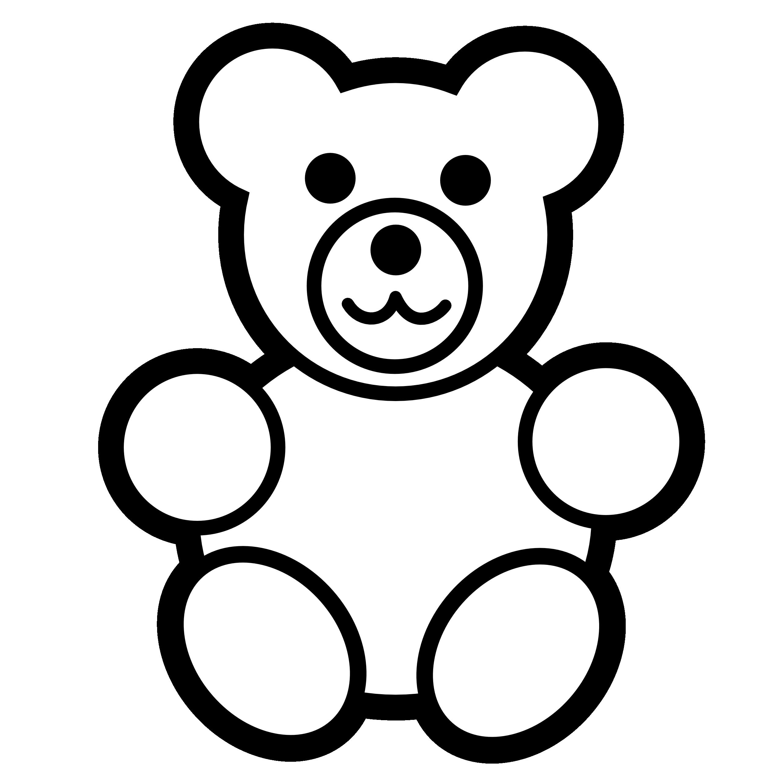 Vector teddy bear clipart