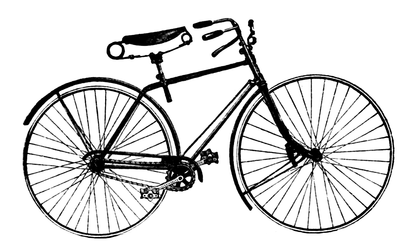 Vintage advertising clip art antique bicycle the graphics fairy