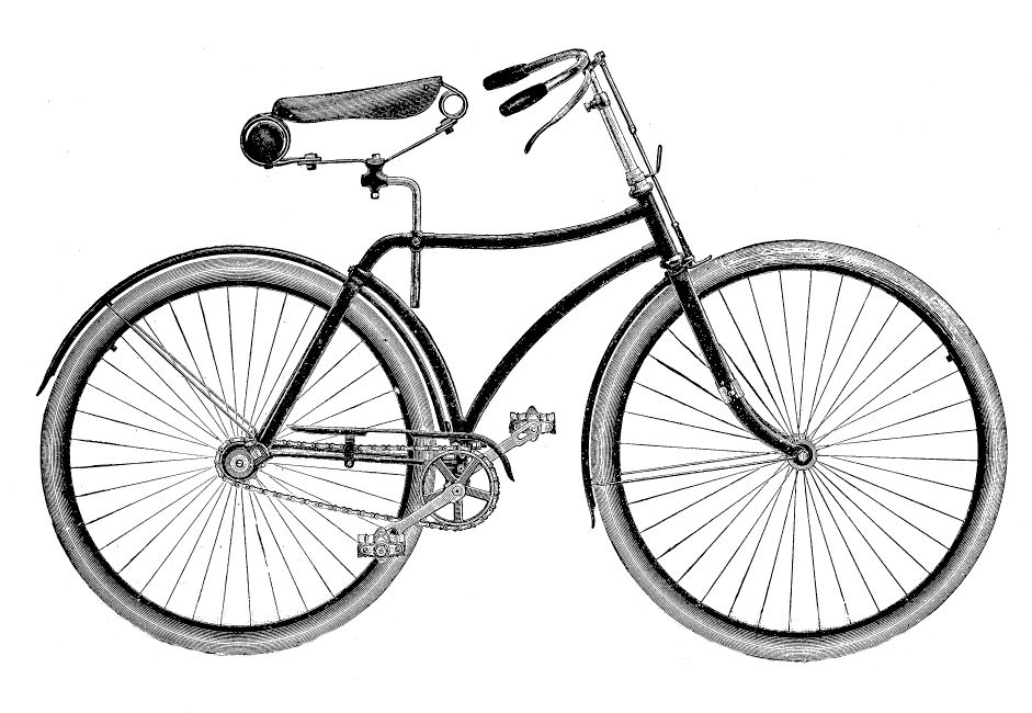 Vintage clip art bicycle the graphics fairy