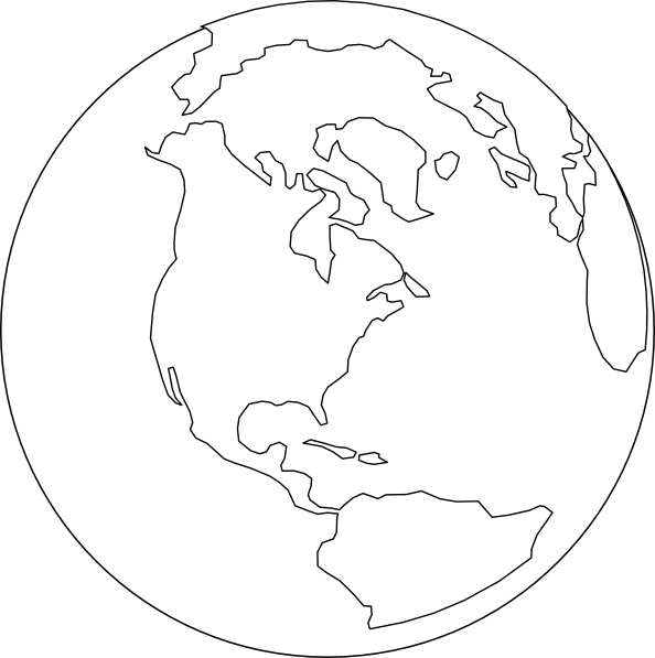 White world clip art at vector clip art online