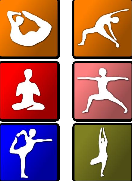 Yoga positions clip art at vector clip art online