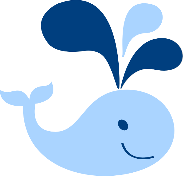 Blue baby whale clip art at vector clip art online
