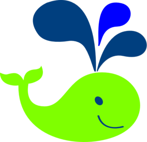 Green whale clip art at vector clip art online