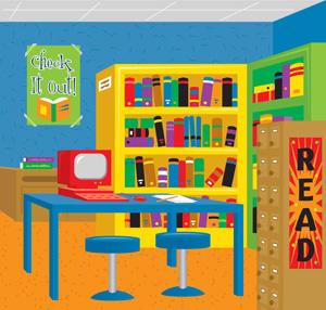Library media center daniels farm school