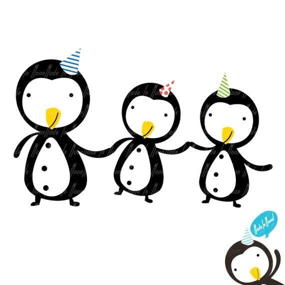 Penguin friends clip art clipart clipart