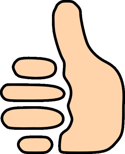 Thumbs up symbol clip art at vector clip art online