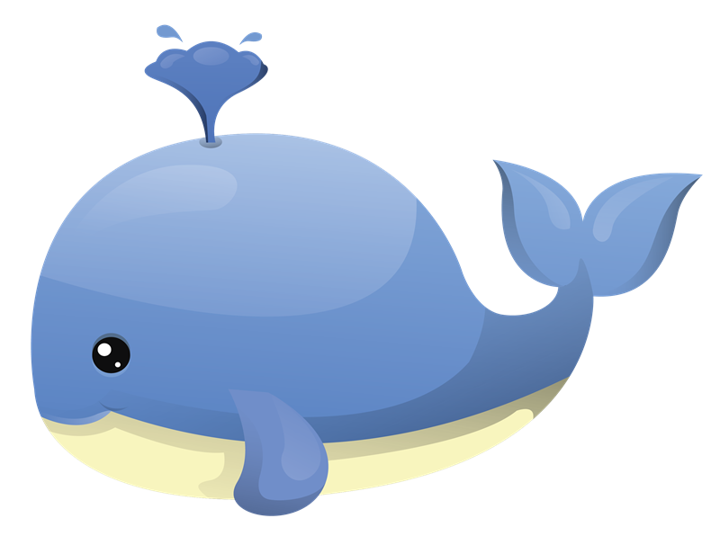 Blue whale clipart black and white clipart image #6971