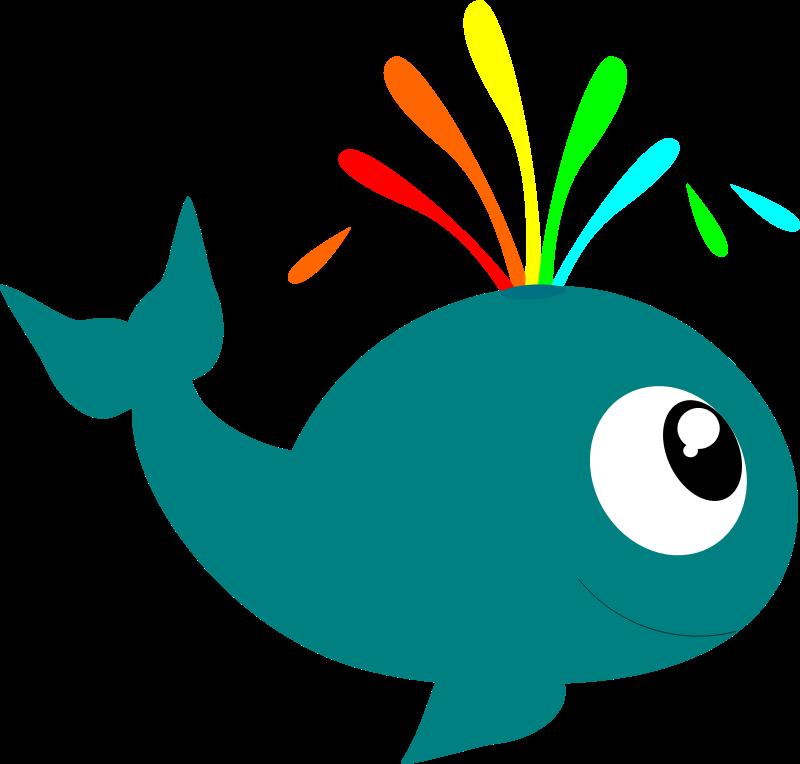 Whale sea creatures clip art