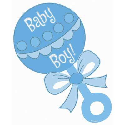Baby boy baby rattle boy clipart