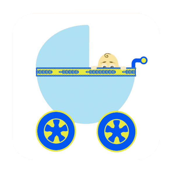 Baby boy borders clipart