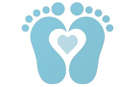 Baby boy footprints clipart