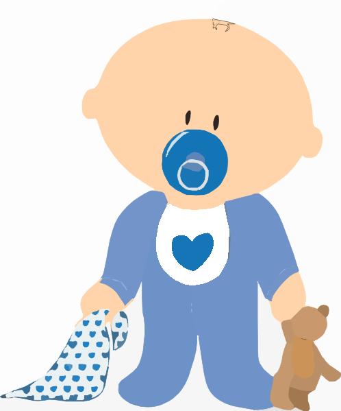 Baby boy rattle clip art images