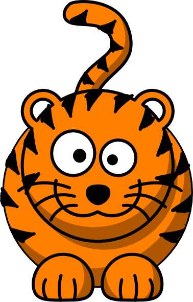 Baby tiger clipart clipart
