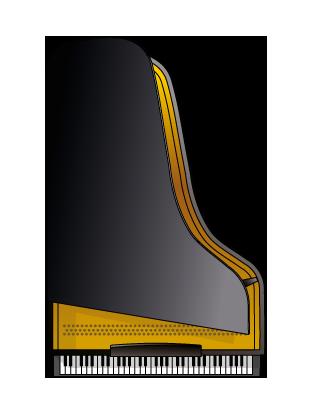 Grand piano gradient