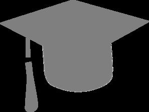 Grey graduation hat clip art at vector clip art online