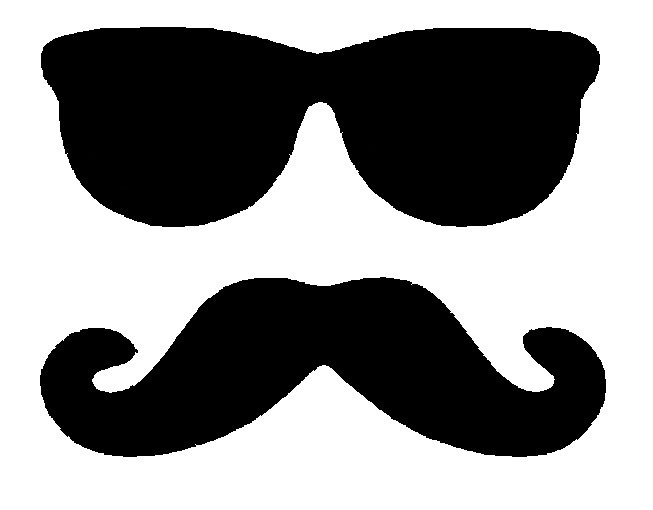 Handlebar mustache clip art clipart