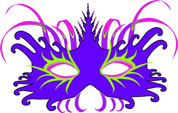 Mardi gras fantasy mask clip art