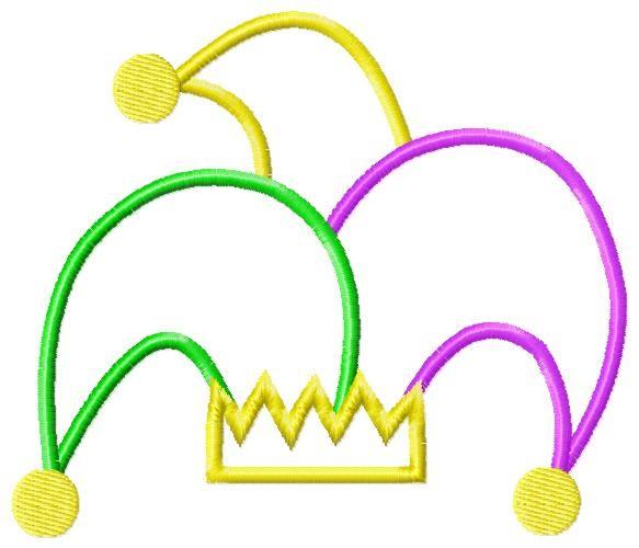 Mardi gras joker hat clip art