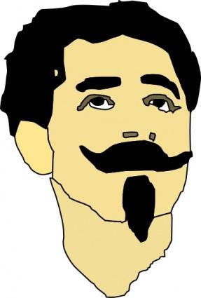 Mustache clip art vector mustache graphics