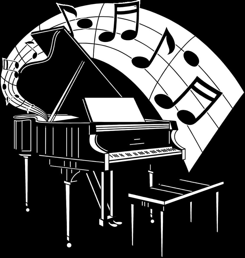 Piano clipart 6