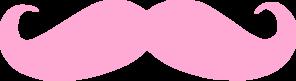 Pink mustache clip art at vector clip art online