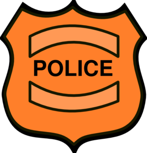Police badge clip art at vector clip art online