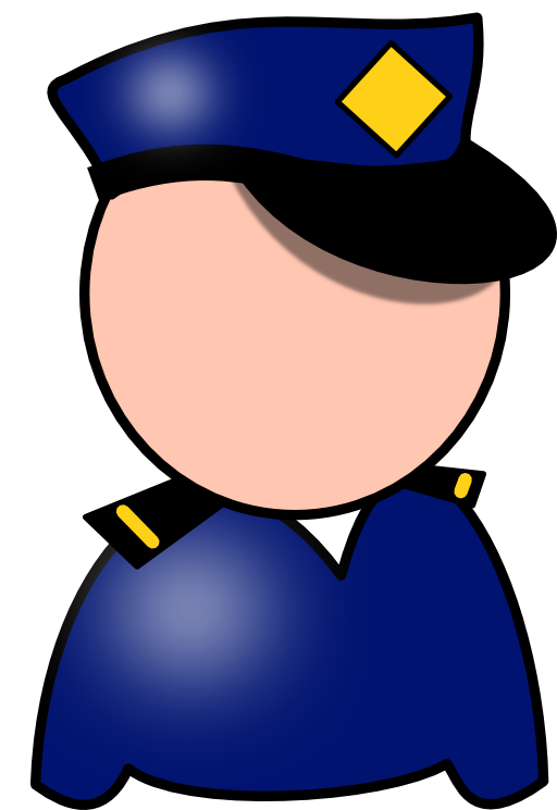 Police man clip art