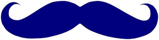 Stripe clipart blue mustache
